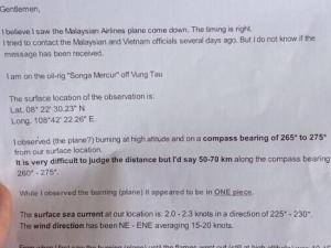 McKays Report MH370